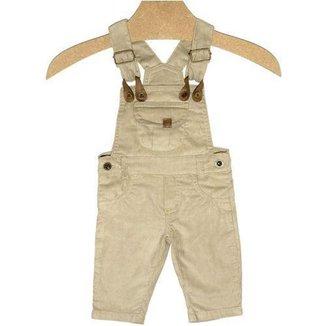 Jardineira Infantil Masculino Cotelê Kidin´s KD7512