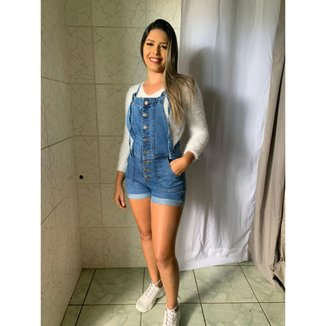 Jardineira Jeans Feminina Blue Eagle