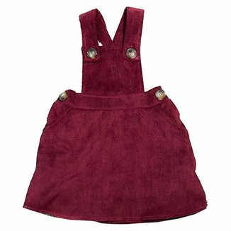 Jardineira Veludo Infantil Menina produtos do corinthians Jelly.