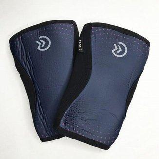 Joelheira Crossfit Onset Fitness 7 mm - Blue/Pink