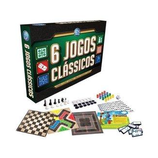 Jogo 6 Jogos Clássicos Tabuleiro