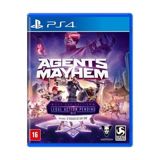 Jogo Agents of Mayhem (Day One Edition) - PS4 - Incolor