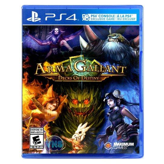 Jogo ARMAGALLANT DECKS OF DESTINY  PS4 - Incolor