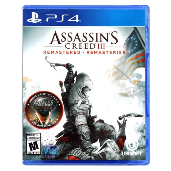 Jogo Assassin's Creed III Remastered  PS4 - Incolor