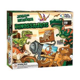 Jogo da Memória Dinossauros Pais e Filhos