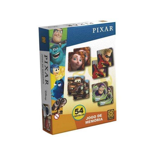 Jogo da Memória Pixar 27 Cartas Grow - Colorido