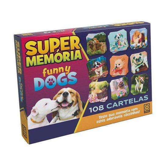 Jogo da Memória Supermemória Funny Dogs - Colorido