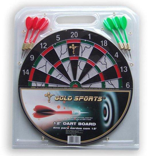 """Jogo dardo Gold Sports 12"""" com 06 setas 08 - Colorido"""