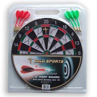"""Jogo dardo Gold Sports 12"""" com 06 setas 08"""