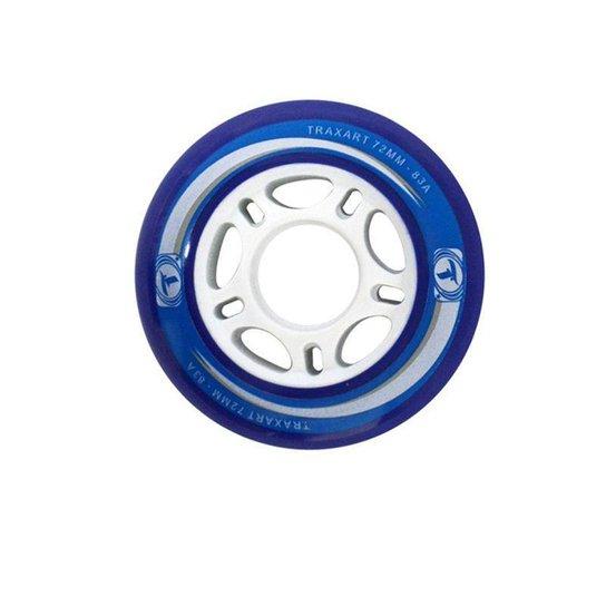 Jogo de Rodas Traxart Fitness 72mm/83A - Azul - Azul