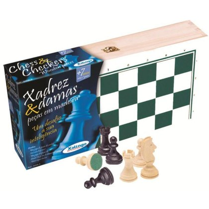 Jogo de Xadrez e Damas Xalingo