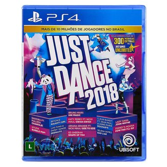 Jogo JUST DANCE 2018  PS4
