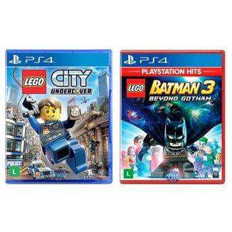 Jogo Lego  City Undercover + Jogo Lego  Batman 3 Beyond Gotham   PS4