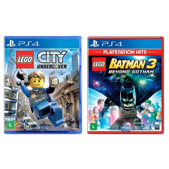 Jogo Lego  City Undercover + Jogo Lego  Batman 3 Beyond Gotham   PS4 - Incolor