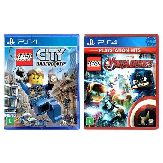 Jogo Lego  City Undercover + Jogo Lego  Marvel Vingadores   PS4 - Incolor