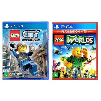 Jogo Lego  City Undercover + Jogo Lego  Worlds   PS4