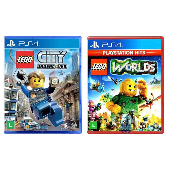 Jogo Lego  City Undercover + Jogo Lego  Worlds   PS4 - Incolor