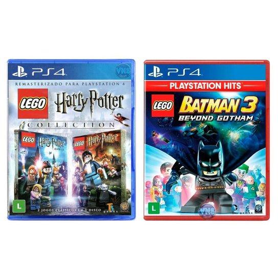 Jogo Lego  Harry Potter Collection + Jogo Lego  Batman 3 Beyond Gotham   PS4 - Incolor