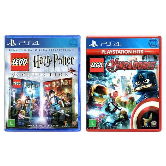 Jogo Lego  Harry Potter Collection + Jogo Lego  Marvel Vingadores   PS4 - Incolor