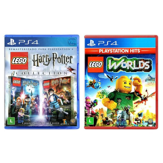 Jogo Lego  Harry Potter Collection + Jogo Lego  Worlds   PS4