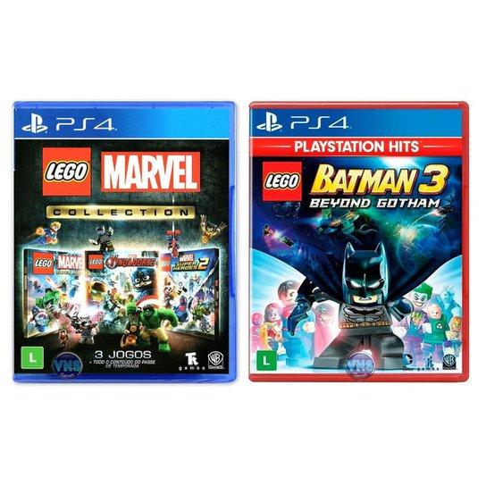 Jogo Lego  Marvel Collection + Jogo Lego  Batman 3 Beyond Gotham   PS4 - Incolor
