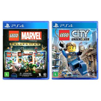 Jogo Lego  Marvel Collection + Jogo Lego  City Undercover   PS4