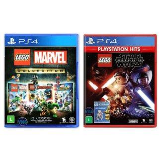 Jogo Lego  Marvel Collection + Jogo Lego  Star