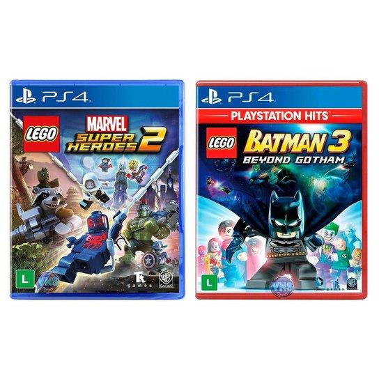 Jogo Lego  Marvel Super Heroes 2 + Jogo Lego  Batman 3 Beyond Gotham   PS4 - Incolor