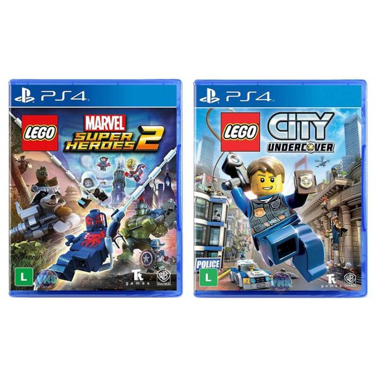 Jogo Lego  Marvel Super Heroes 2 + Jogo Lego  City Undercover   PS4 - Incolor