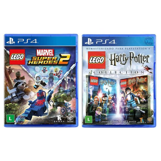 Jogo Lego  Marvel Super Heroes 2 + Jogo Lego  Harry Potter Collection   PS4 - Incolor