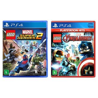 Jogo Lego  Marvel Super Heroes 2 + Jogo Lego  Marvel Vingadores   PS4