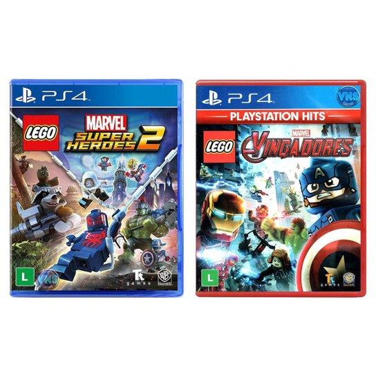 Jogo Lego  Marvel Super Heroes 2 + Jogo Lego  Marvel Vingadores   PS4 - Incolor