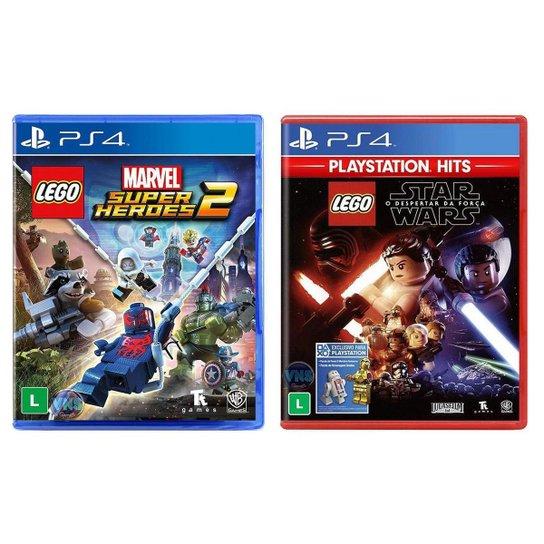 Jogo Lego  Marvel Super Heroes 2 + Jogo Lego  Star - Incolor