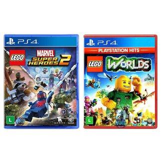 Jogo Lego  Marvel Super Heroes 2 + Jogo Lego  Worlds   PS4