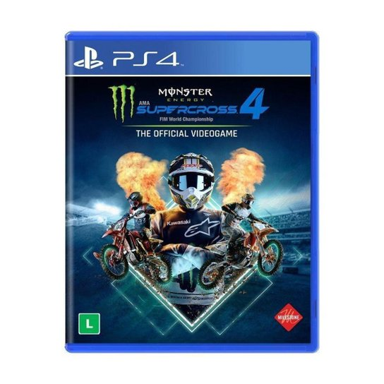 Jogo Monster Energy Supercross - The Official Videogame 4 - PS4 - Colorido