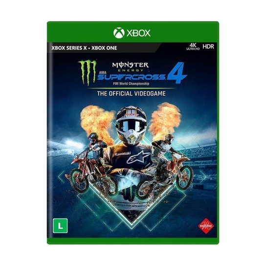Jogo Monster Energy Supercross - The Official Videogame 4 - Xbox - Colorido