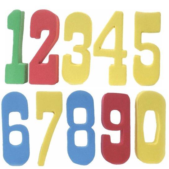 Jogo Números Eva Flutuantes - Amarelo