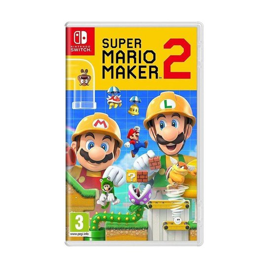Jogo Super Mario Maker 2 - Switch - Incolor