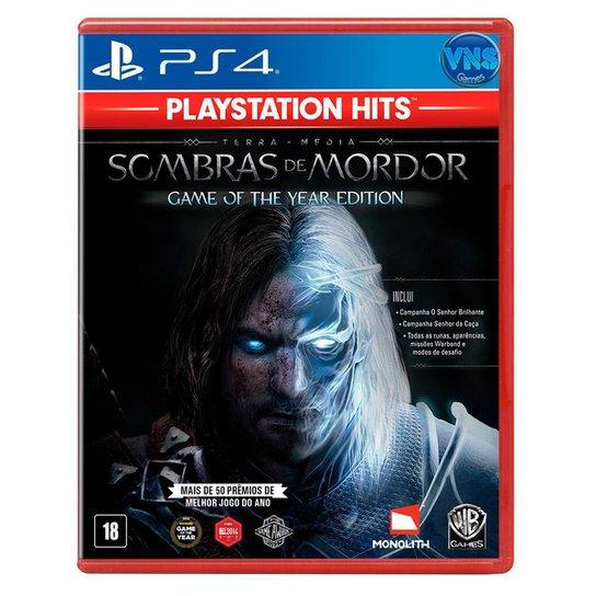 Jogo Terramédia Sombras de Mordor GOTY  Edição Jogo do Ano  PS4 - Incolor