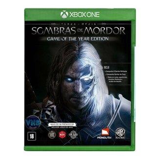 Jogo Terramédia Sombras de Mordor GOTY  Edição Jogo do Ano  Xbox One