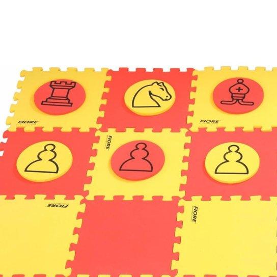 Jogo Xadrez Dama Flutuante Fiore - Vermelho+Amarelo