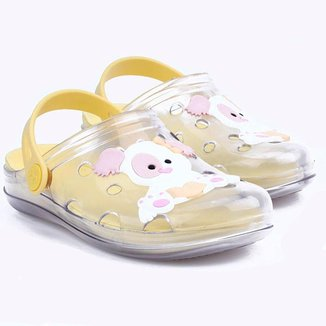 Kids Colors Babuche Kids Clear World - Transparente/yellow Candy - 205.006-2849-33/34