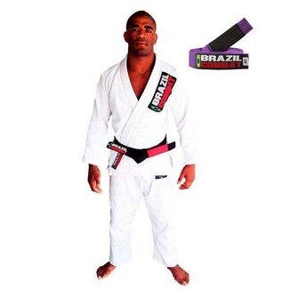 Kimono Jiu Jitsu Brazil Combat Starter com Faixa Roxa