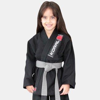 Kimono Jiu Jitsu Koral Infantil Trançado