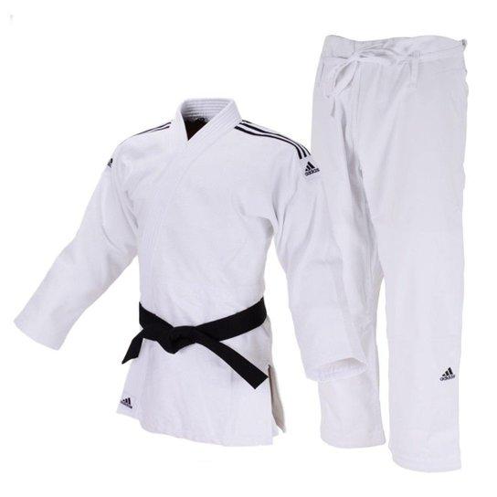 Moler Penetración Familiarizarse  Kimono Judô Adidas Quest J690 - Branco e Preto | Netshoes