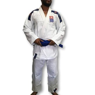 Kimono Trançado Flex Jiu Jitsu Adulto - Branco - Torah
