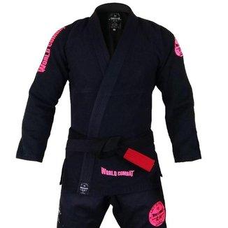 Kimono World Combat New Let's Roll - Black Pink