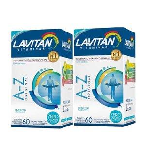 Kit 02 Lavitan AZ Homem 60 Comprimidos