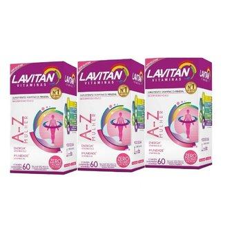 Kit 03 Lavitan AZ Mulher 60 Comprimidos