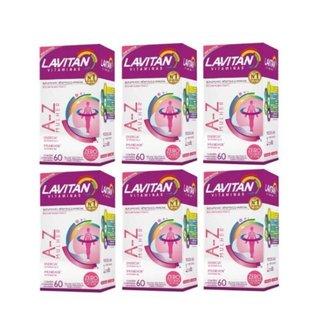 Kit 06 Lavitan AZ Mulher 60 Comprimidos